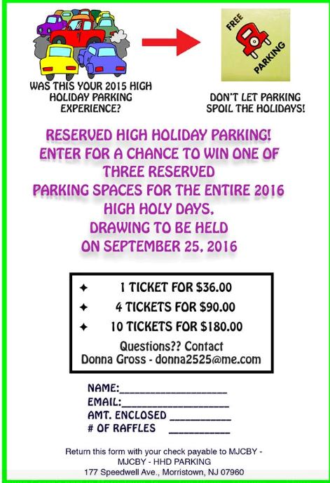 HHD parking raffle 2016